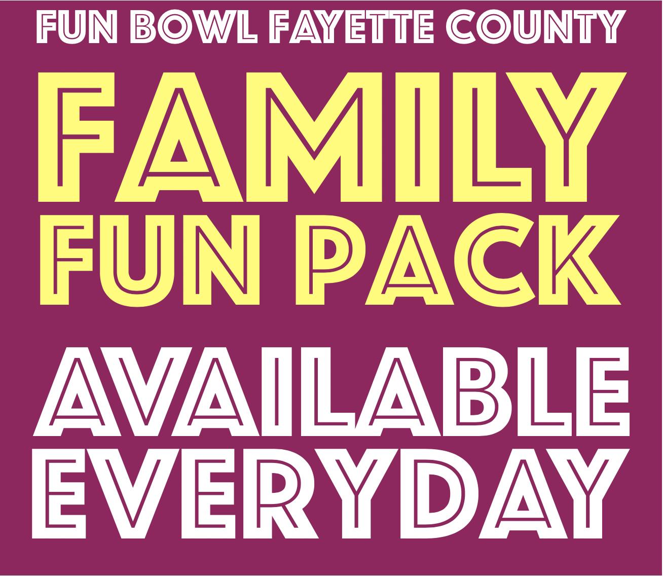 Fun Bowl Fayette County Family Fun Pack Logo